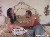 hot Teen seduces pizza boy