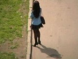 Girls in streets in Russia 6 In stockings 2
