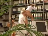German Girl Fucked in Library