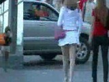 Girls in streets in Russia