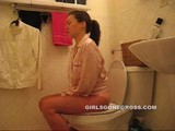 sexy lady farting and pooping on toilet 10