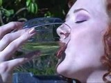 AUDREY HOLLAND DRINKING HER PEE
