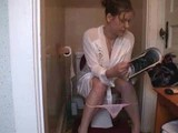 women on toilet farting pooping 2