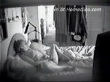 Mature bbw woman masturbates on the bed - spy cam