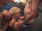 German amateur mature in threesome