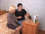 Russian drunk mature mom fucks young boy
